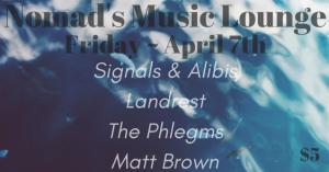 Friday, April 7, 2017 - Nomad's Music Lounge (Fayetteville, AR)