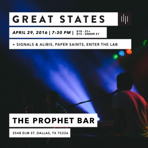 April 29 @ The Prophet Bar - Dallas, TX