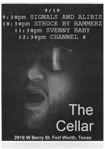 9.19.14 @ The Cellar flyer