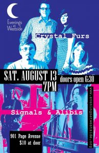 August 13, 1016 - Evenings At Westside w/ Crystal Furs